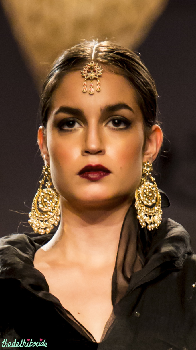 Polki gold earrings Meera & Muzaffar Ali India Bridal Fashion Week 2014