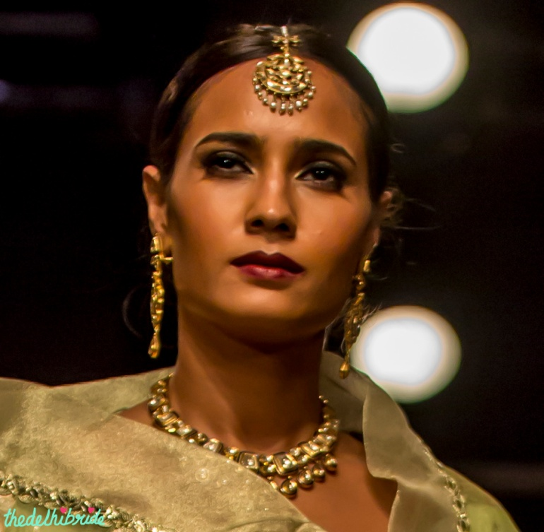 Polki maang tikka Meera & Muzaffar Ali India Bridal Fashion Week 2014