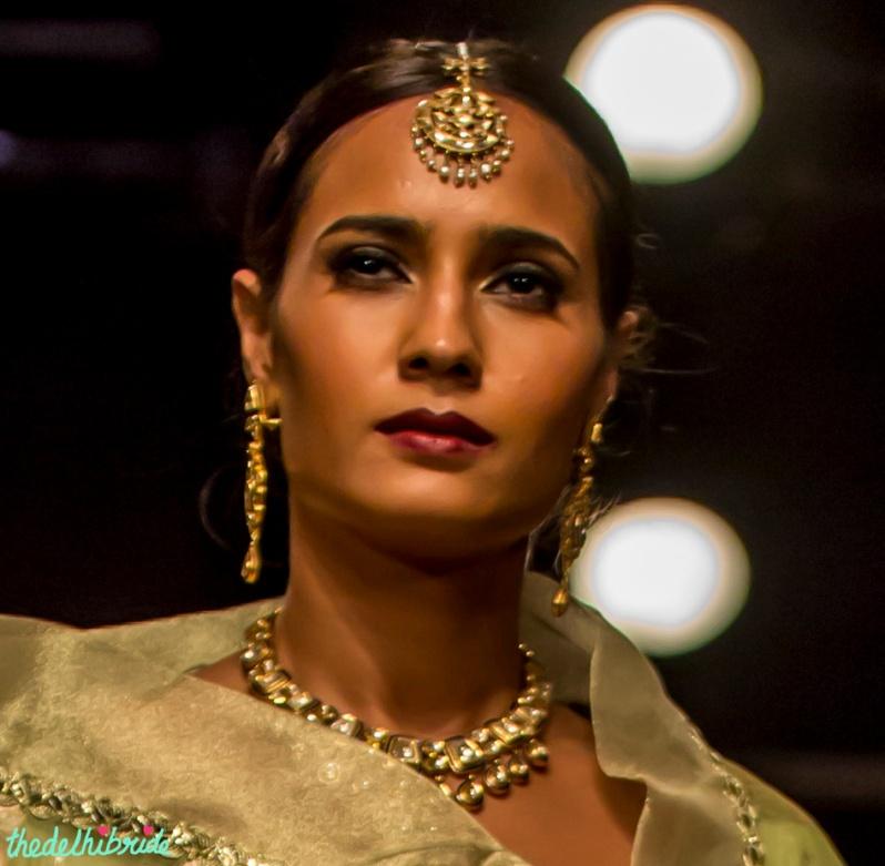 Polki maang tikka Meera & Muzaffar Ali India Bridal Fashion Week 2014