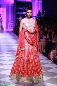 red bridal lehenga Anita Dongre Lakme Fashion Week 2014