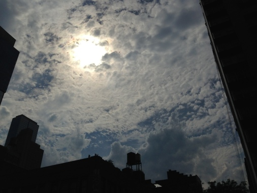 sights of new york cloudy sky sun