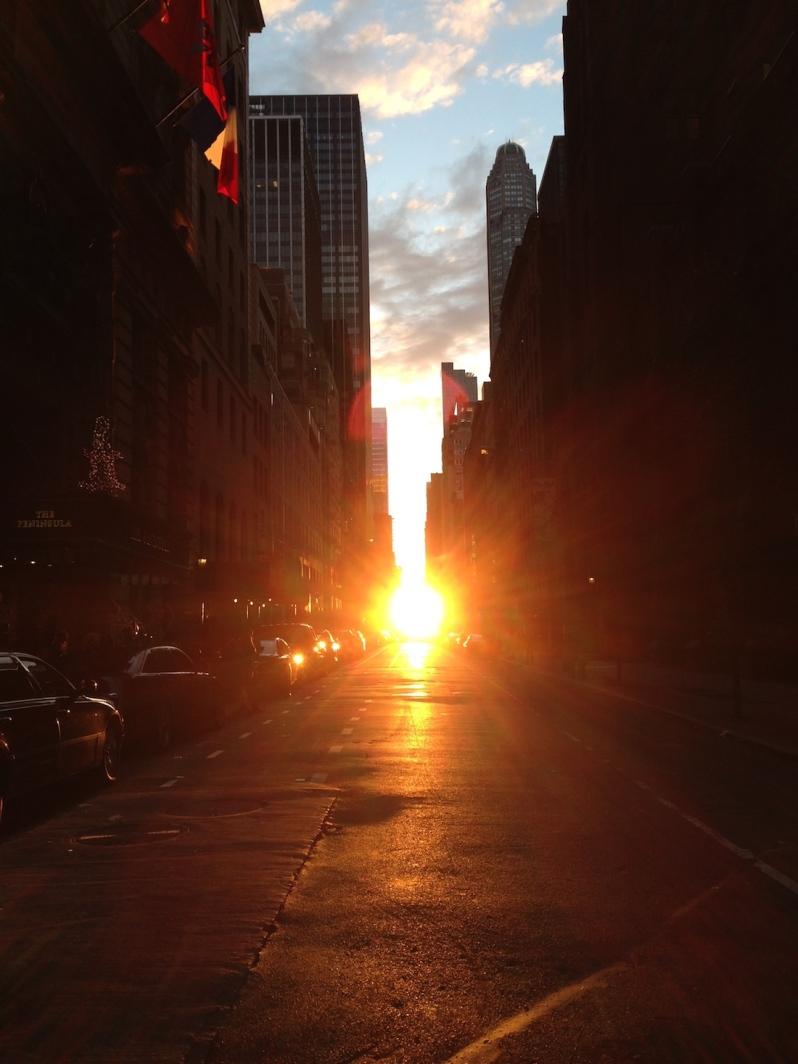 sights of new york sunset