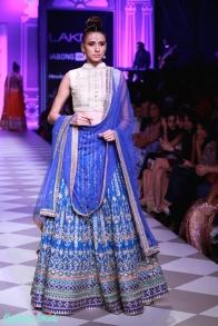 The Best of Anita Dongre Lakme Fashion Week 2014 blue lehenga