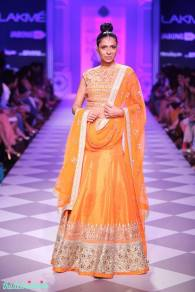 The Best of Anita Dongre Lakme Fashion Week 2014 orange lehenga