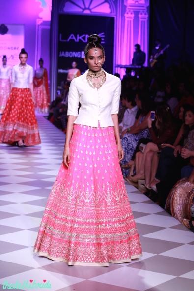 The Best of Anita Dongre Lakme Fashion Week 2014 pink lehenga
