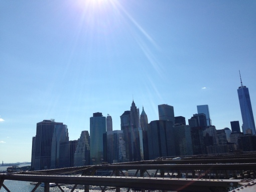 View of Manhattan from Brooklyn Bridge