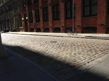 Cobblestone road in Brooklyn