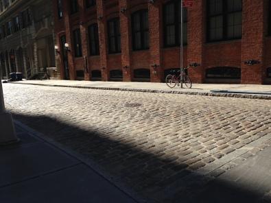 Cobblestone road in Brooklyn