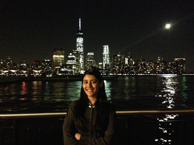 where to visit manhattan skyline from new jersey in front of hyatt by the hudson