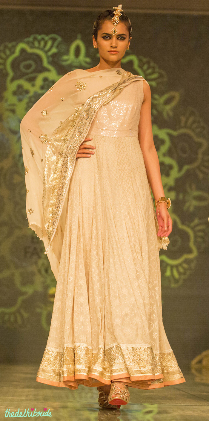 white anarkali 1 Tarun Tahiliani India Bridal Fashion Week 2014