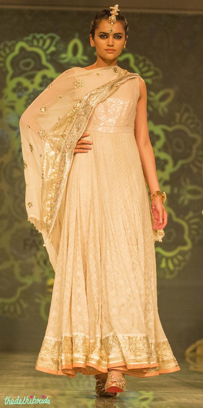 white anarkali 1 Tarun Tahiliani India Bridal Fashion Week 2014