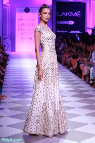 white floor length anarkali Anita Dongre Lakme Fashion Week 2014