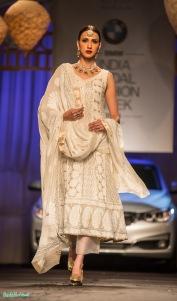 White kurta with pallazo pants