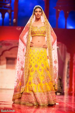 Bright yellow lehenga