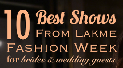 10 Best Shows from Lakme Fashion Week for Brides and wedding guests