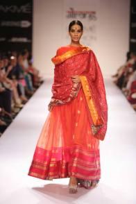 Guarang red and orange ensemble
