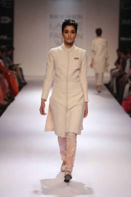 Marg by Soumitra ivory sherwani style jacket for women