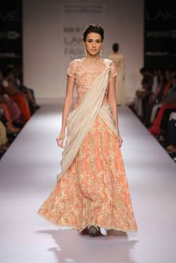 Marg by Soumitra light pastel lehenga