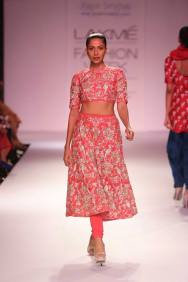 Payal Singhal crop top with skirt and churidar