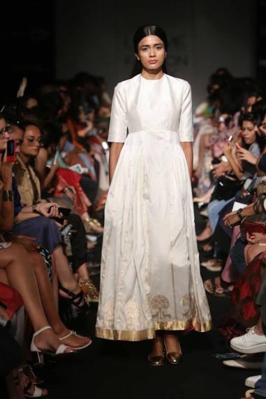 Sanjay Garg elegant white anarkali
