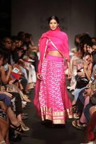 Sanjay Garg fuschia pink lehenga
