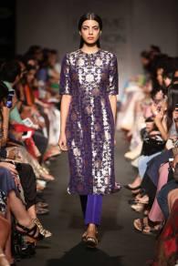 Sanjay Garg indigo blue sherwani style jacket for women