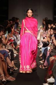 Sanjay Garg pink lehenga with motifs on broder