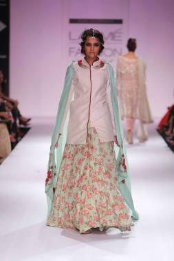 Zara Shahjahan pastel blue floral skirt