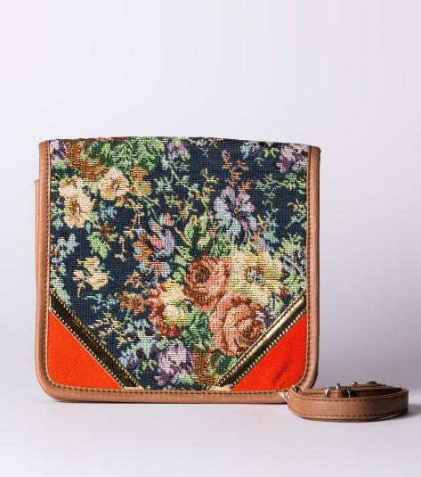 1699 Multicoloured Embroidered Crossbody Bag Desi Drama Queen