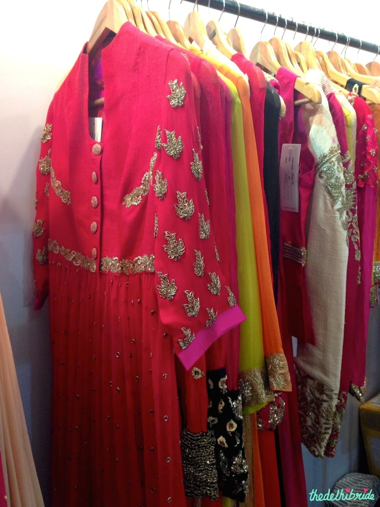 Striking red ensemble by Anjali Sharma for French Curve