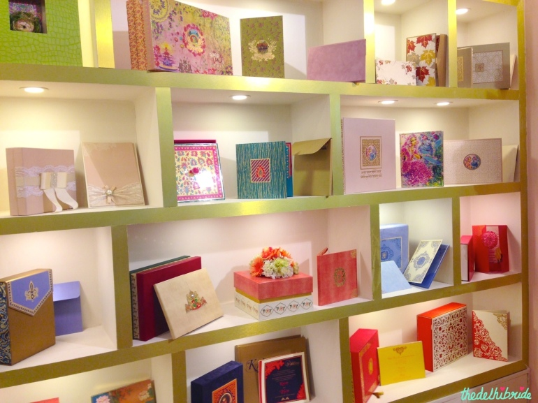 Eternal Grace wall of wedding invites at Bridal Asia 2014