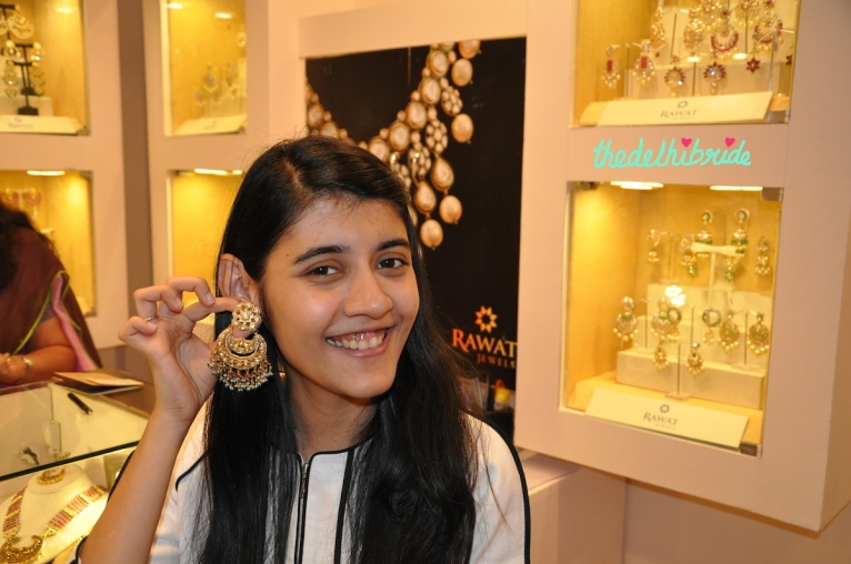 Big earrings by Rawat Jewels at Bridal Asia