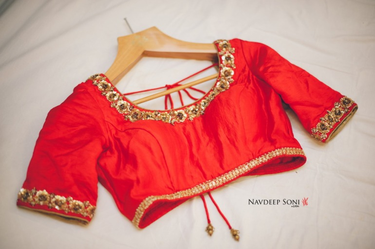Anita Dongre red blouse