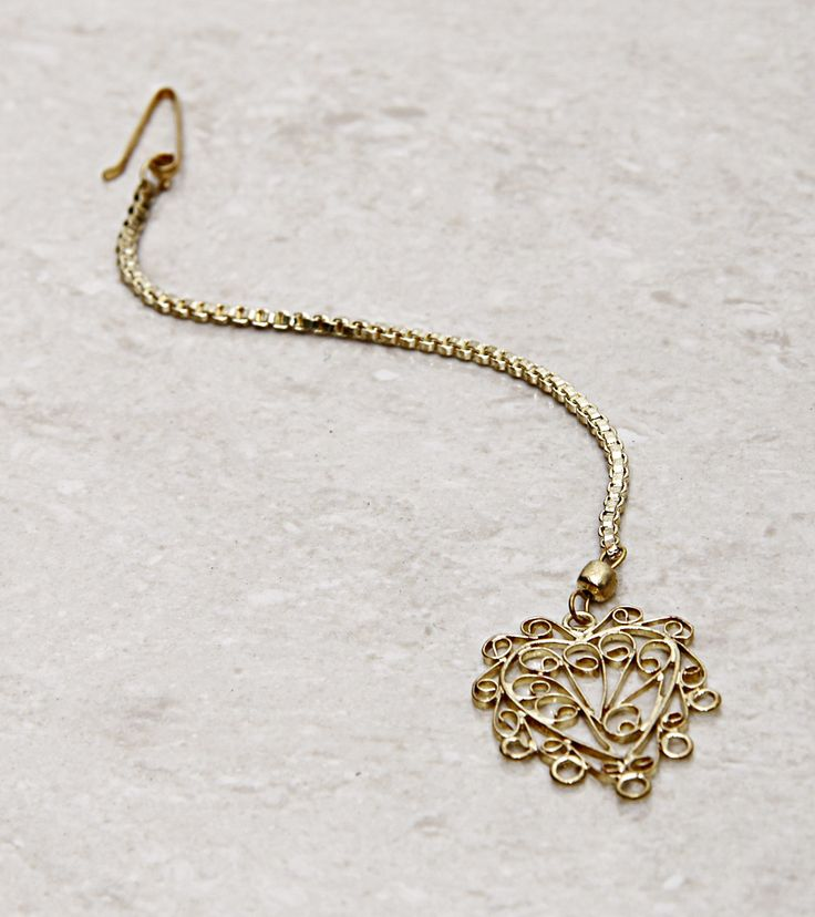 Jewellery by Ritika Sachdeva 1800 Golden Filigree Maang Tikka