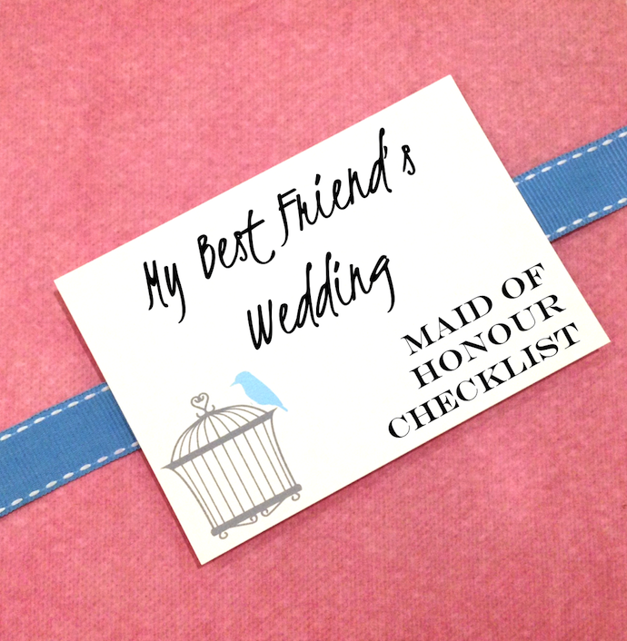 My Best Friend's Wedding My Personal Checklist as Maid Of Honour
