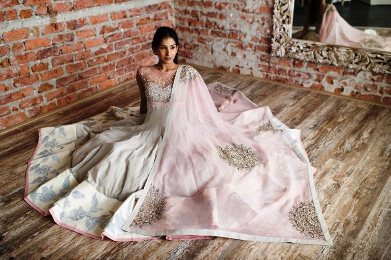 Anushree Reddy current collection at AZA Mumbai anarkali