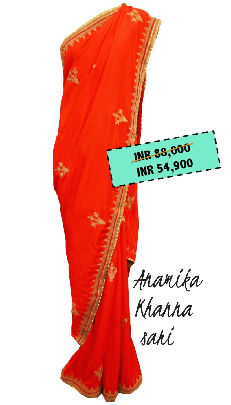 ENSEMBLE - Anamika Khanna saree- Before Sale 88000 After Sale 54900