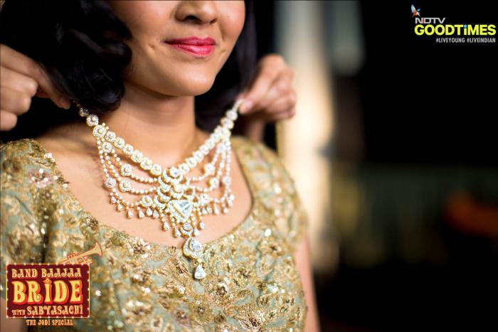 Polki jewellery on Band Baajaa Bride