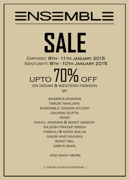 Sale in Delhi for Bridal Wear at Ensemble