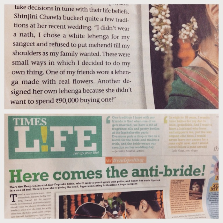 1 thedelhibride Shinjini Chawla press coverage