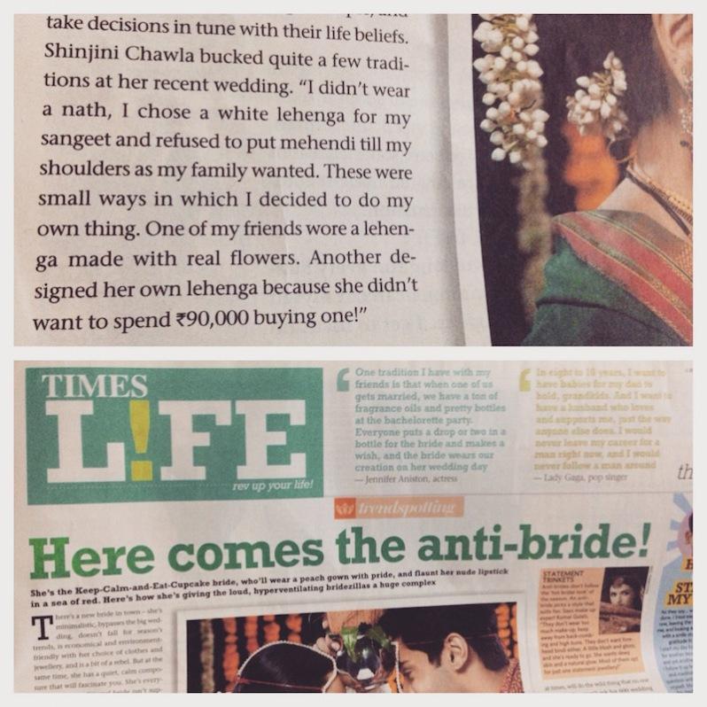 1 thedelhibride Shinjini Chawla press coverage