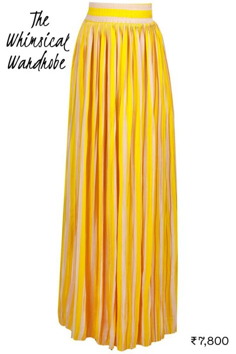 7800 Yellow The Whimsical Wardrobe maxi skirt as lehenga