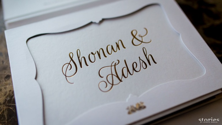 Shonan & Adesh wedding invite first layer