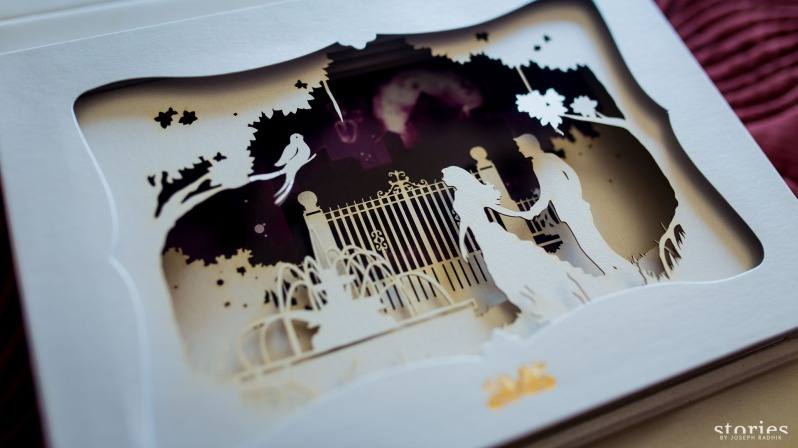 Shonan & Adesh wedding invite shadow box fifth layer
