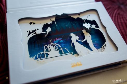 Shonan & Adesh wedding invite shadow box fourth layer