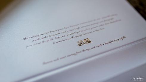 Shonan & Adesh wedding invite shadow box