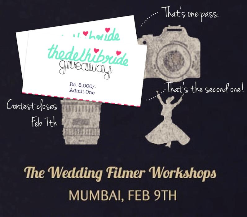 The Wedding Filmer Mumbai workshop giveaway