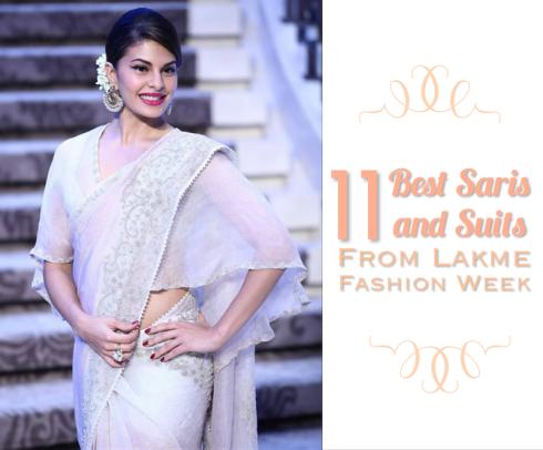 Best saris and suits anarkalis at Lakme Fashion Week Summer Resort 2015