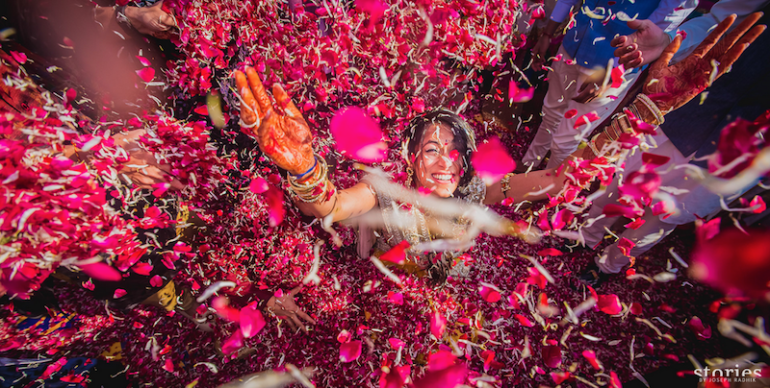 Brij Holi in Jaipur wedding photography by Joe Radhik