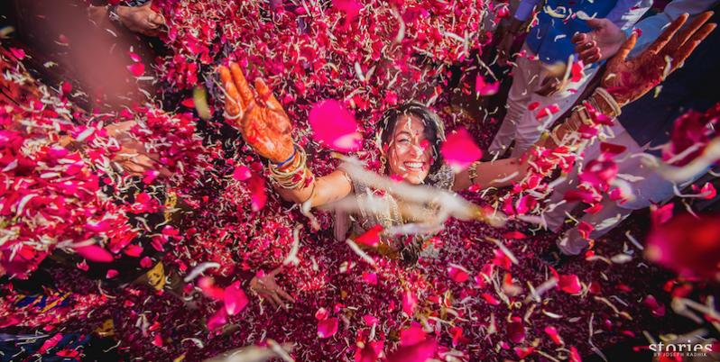 Brij Holi in Jaipur wedding photography by Joe Radhik